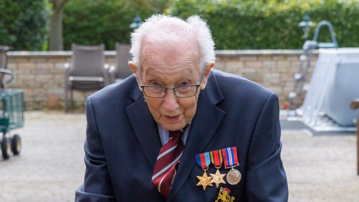 Coronavirus: War veteran, 99, wanted to raise £1,000 for NHS – he's currently on £8m